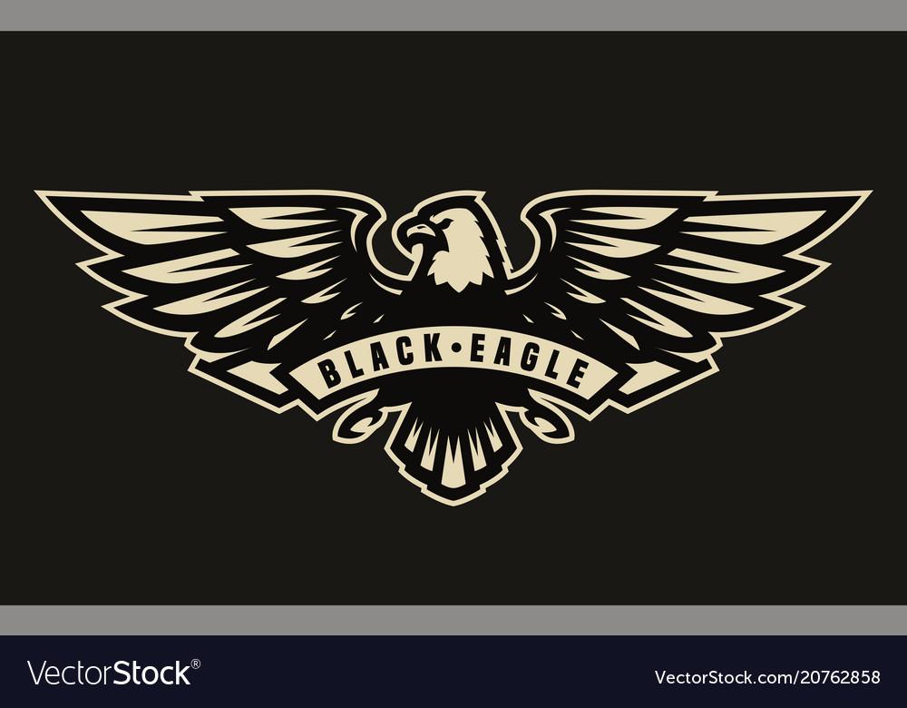Black eagle symbol emblem