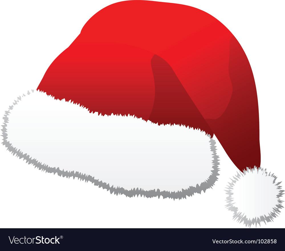 santa hat royalty free vector image vectorstock rh vectorstock com santa hat vector psd santa hat vector black and white