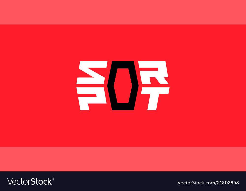 Sport logo geometric design