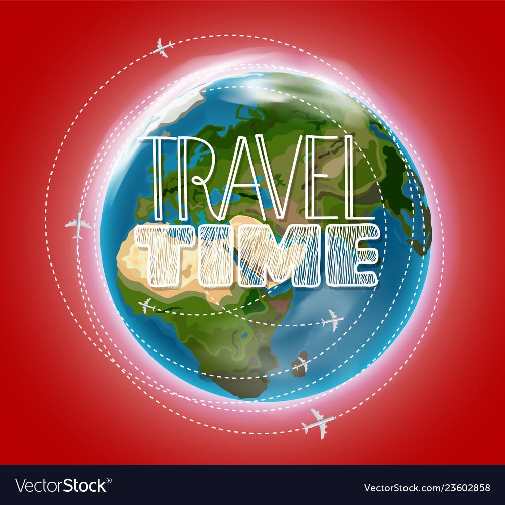 Travel destination concept with logo go travel