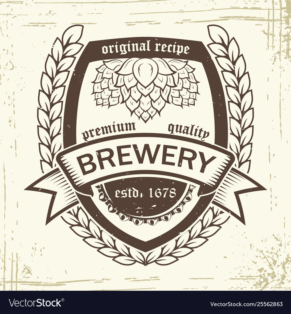 Brewery badge wheat