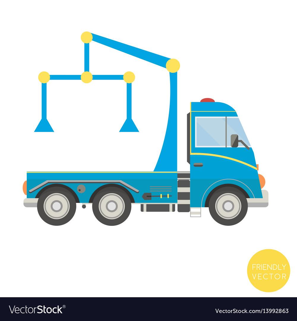 Cartoon transport tow truck