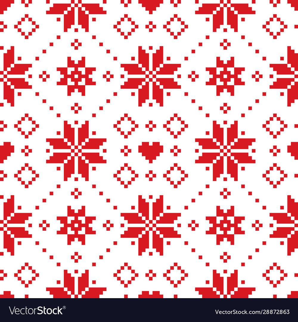 Christmas or winter scottish fair isle pattern