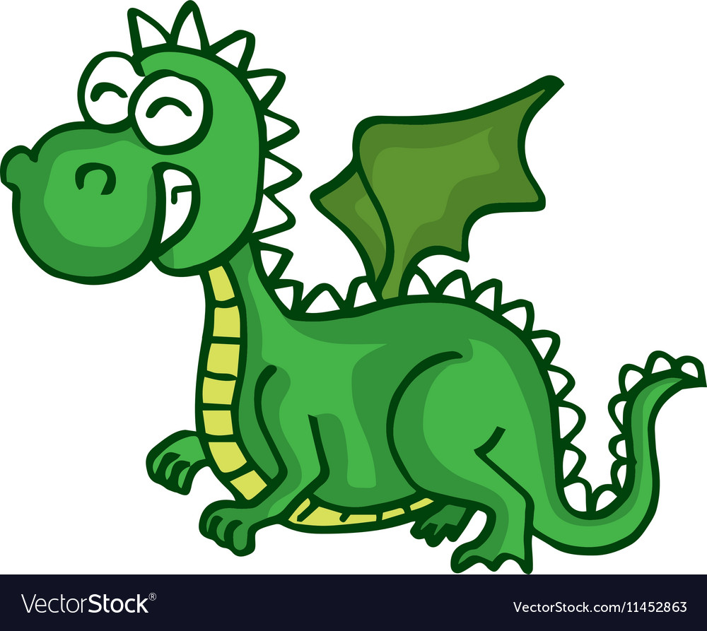 Dragon Cute Smiling Happy Toy For Kids Royalty Free Vector