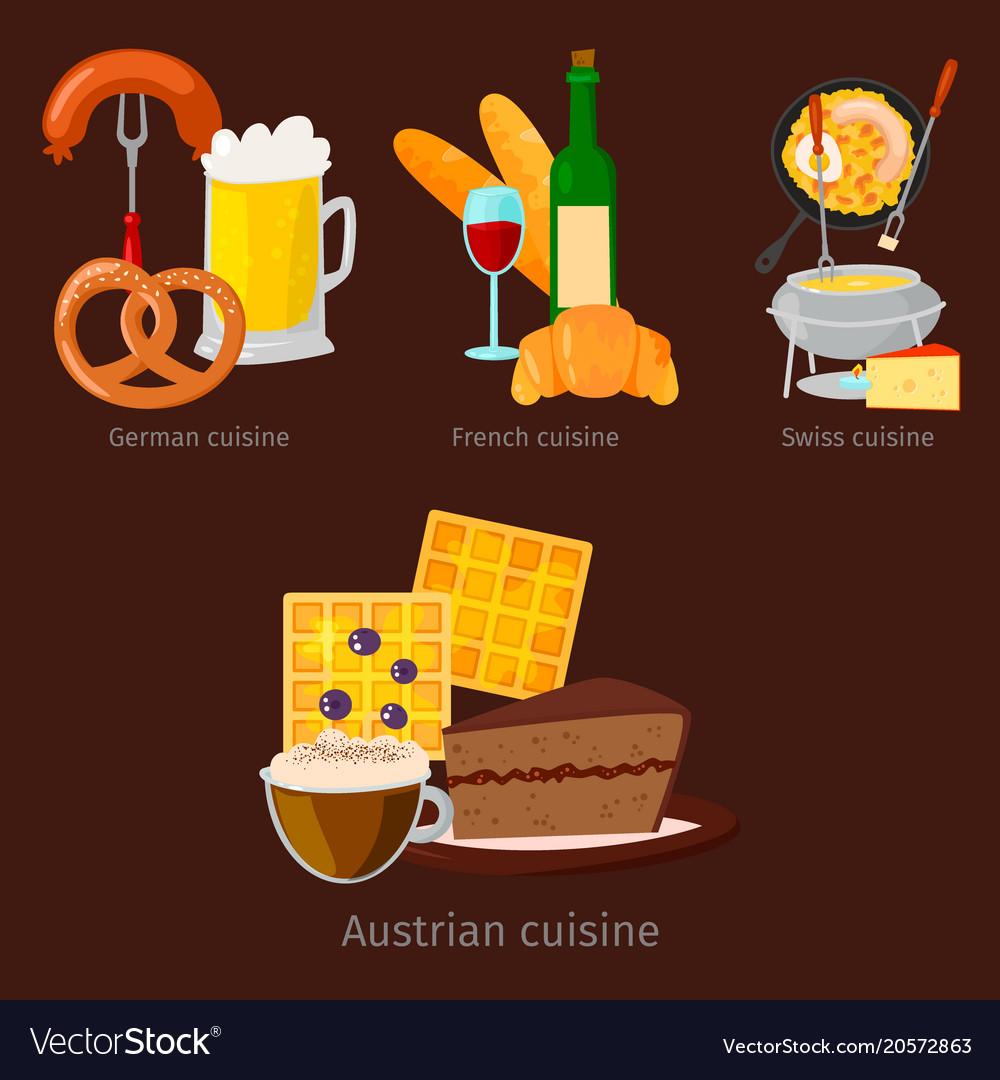European food cuisine tasty dinner food