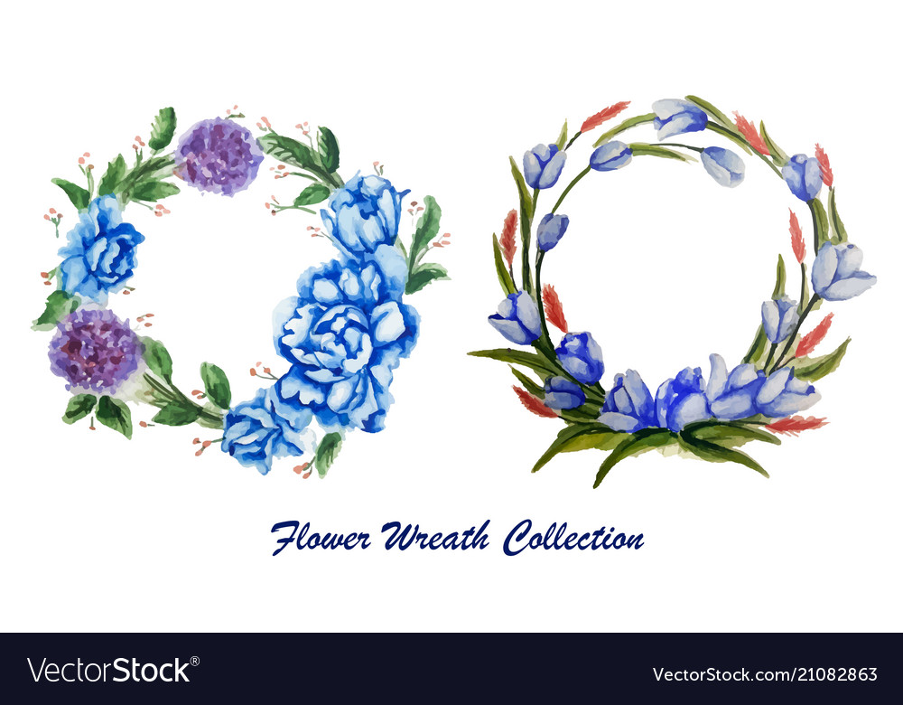 Graphic set with four beautiful floral