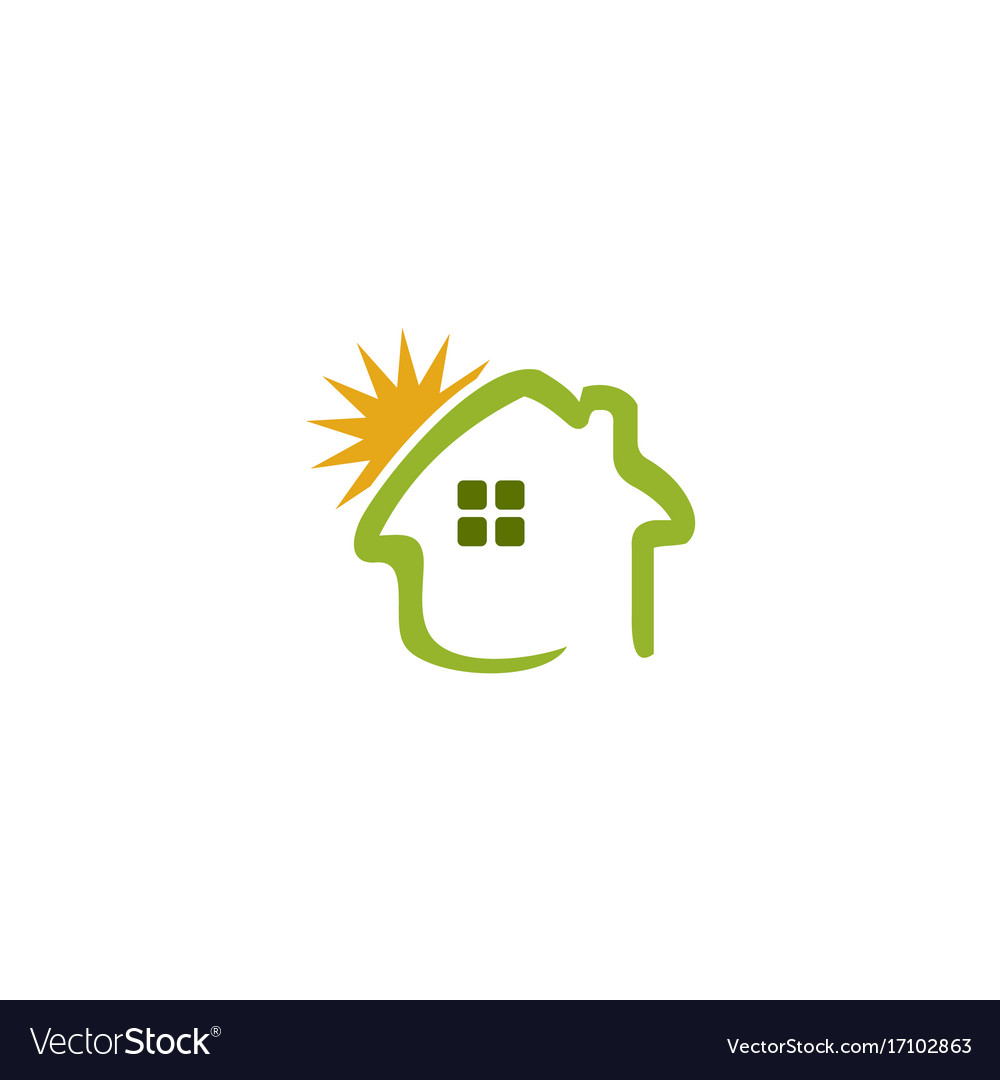 Home summer sunny logo vector