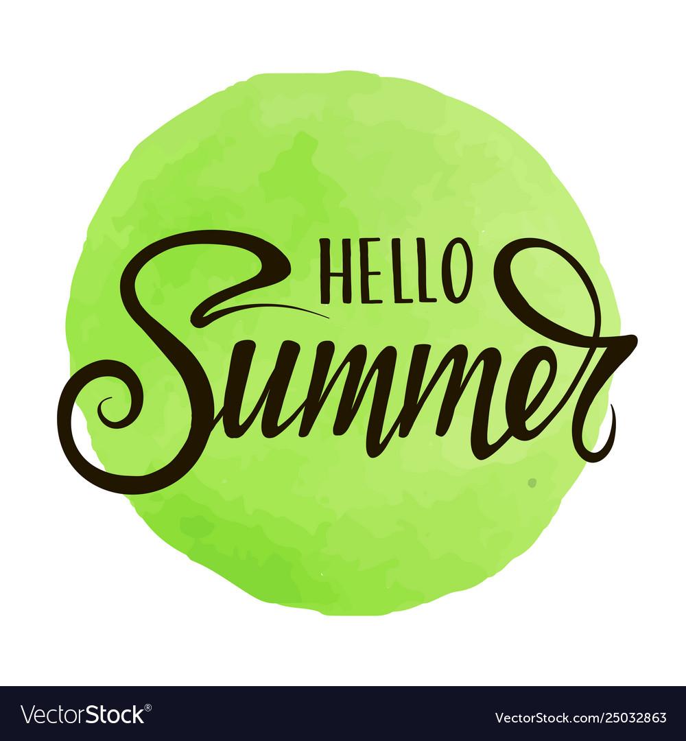 Inscription hello summer