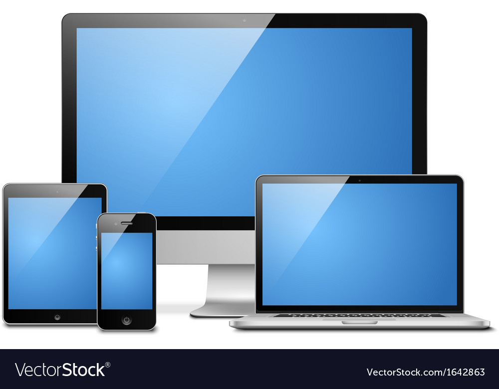 Laptop tablet desktop mobile