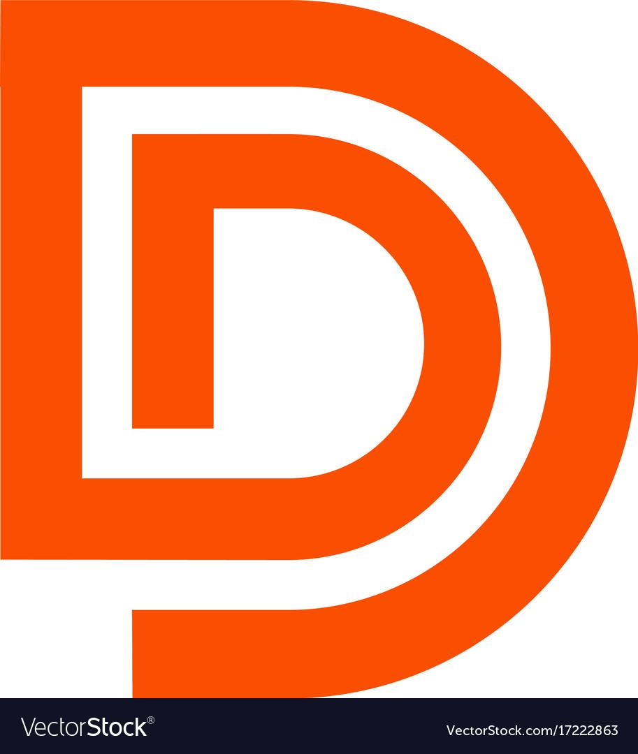 Letter d logo line design abstract logo icon des vector image