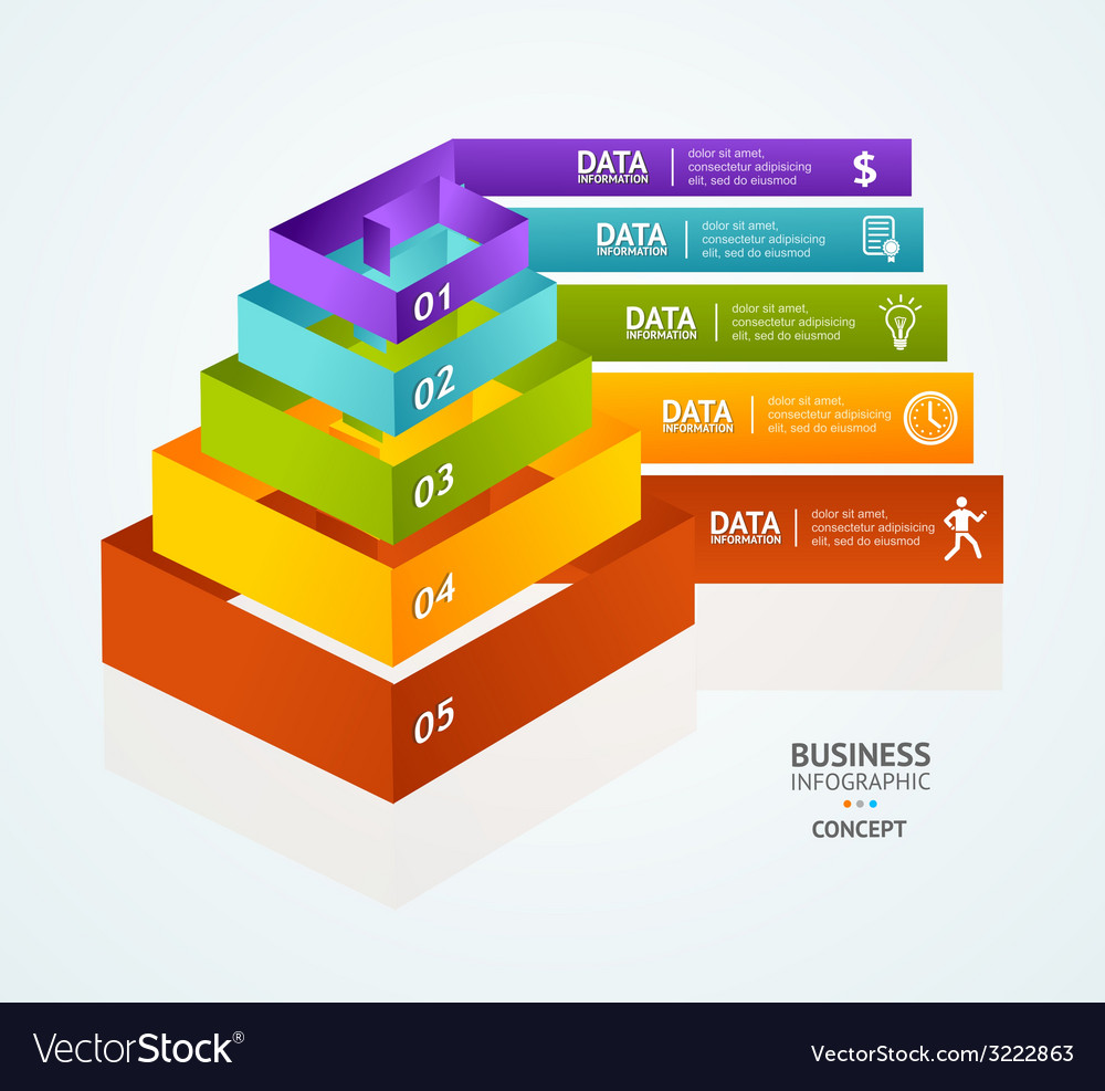 Pyramid chart for infographics design