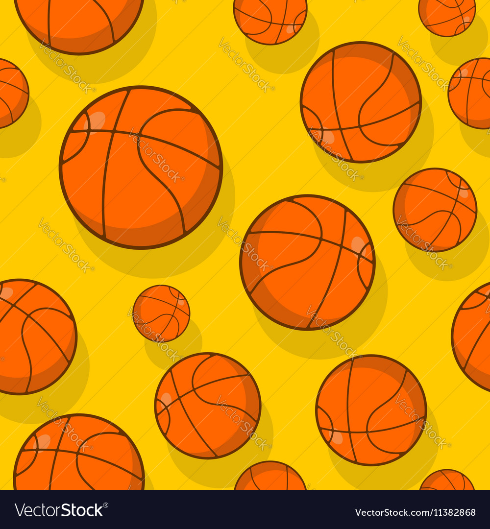 Basketball seamless pattern Sports accessory