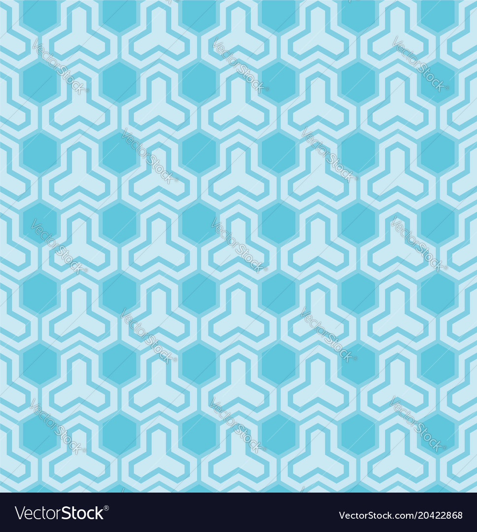 Blue pattern with hexagons