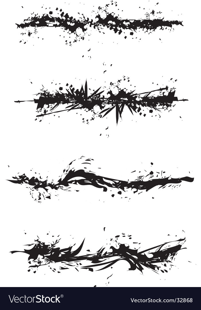 Grunge stain illustrations vector image