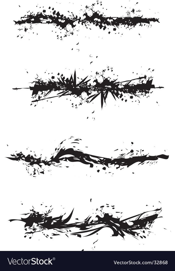 Grunge stain illustrations