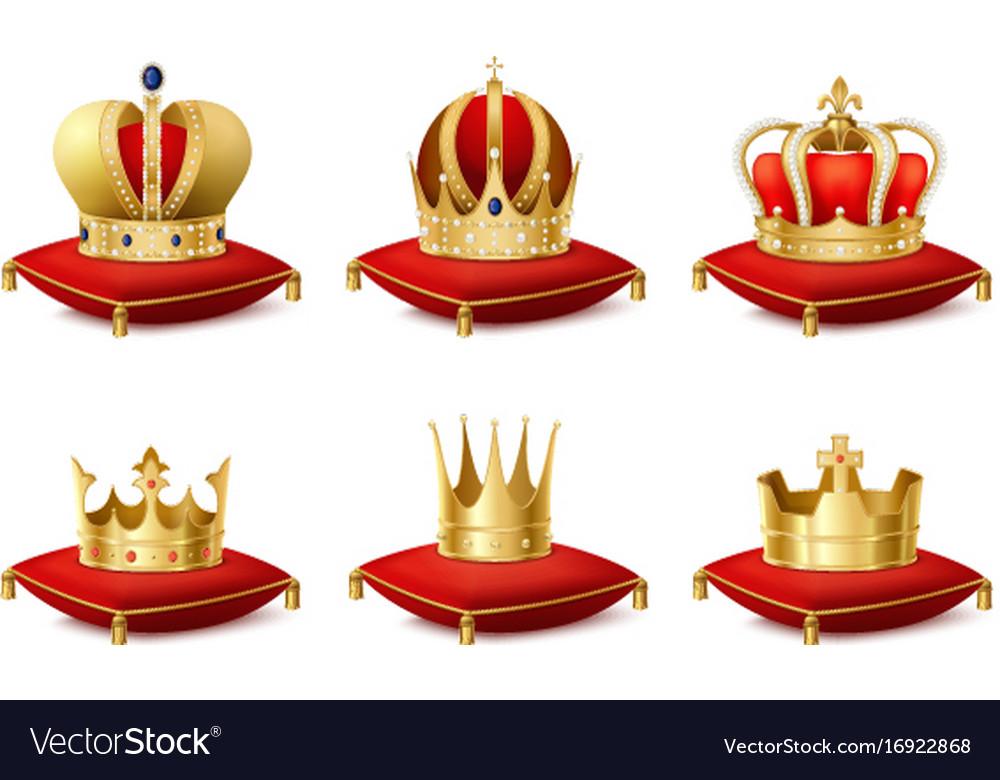 Heraldic crowns set vector image