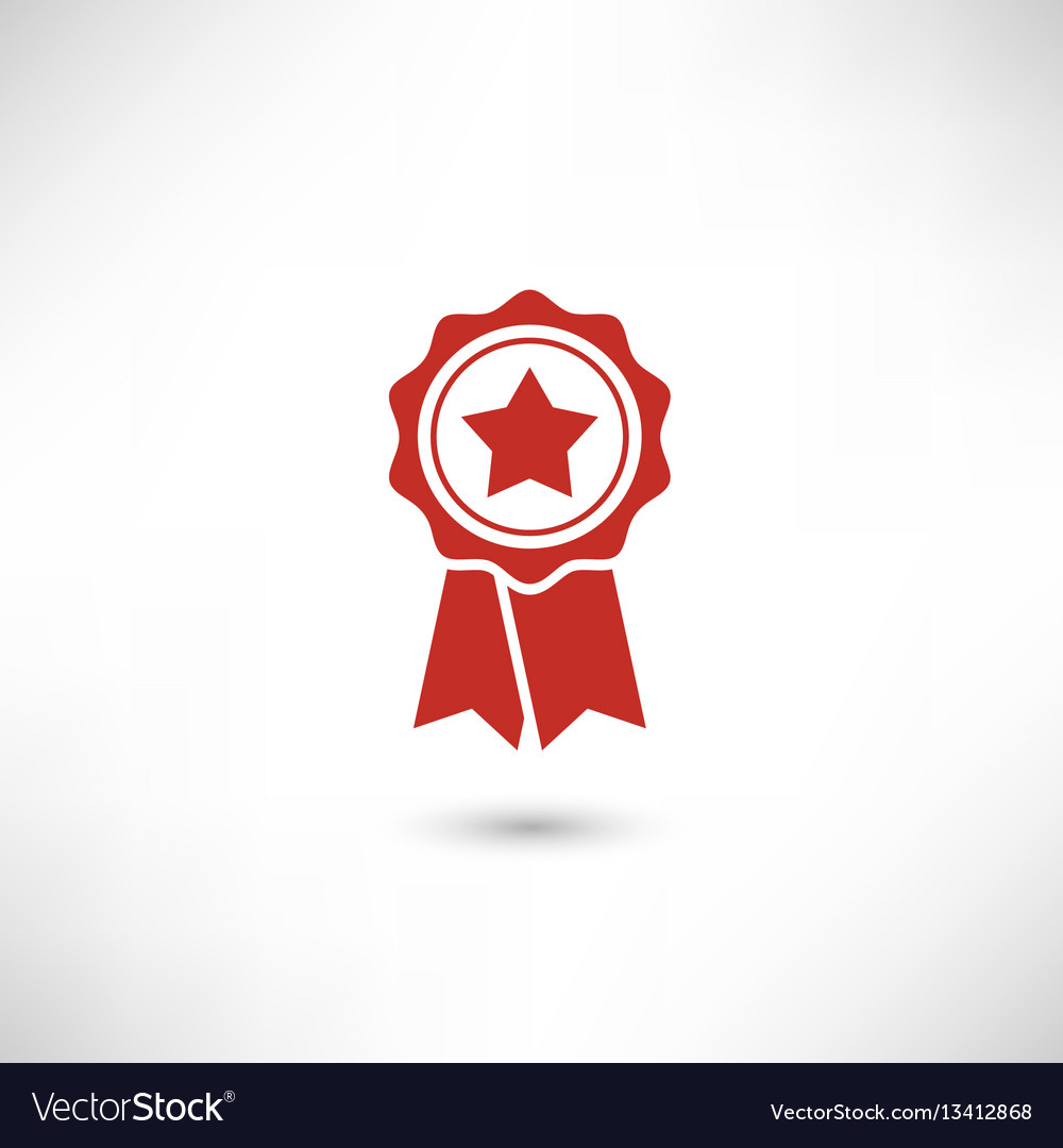 Red badge star
