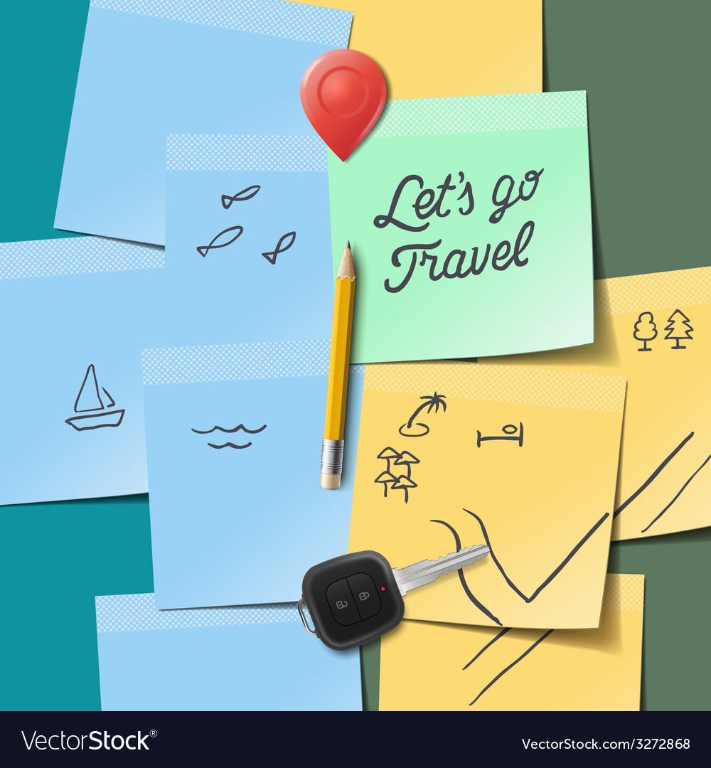 Travel and tourism concept Lets go travel text on