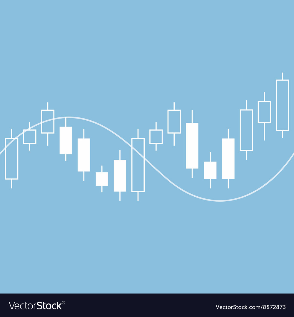 Candle stick graph chart of stock market