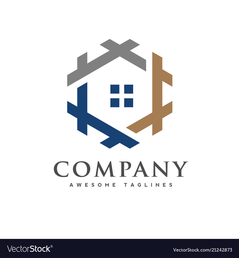Creative real estate logo
