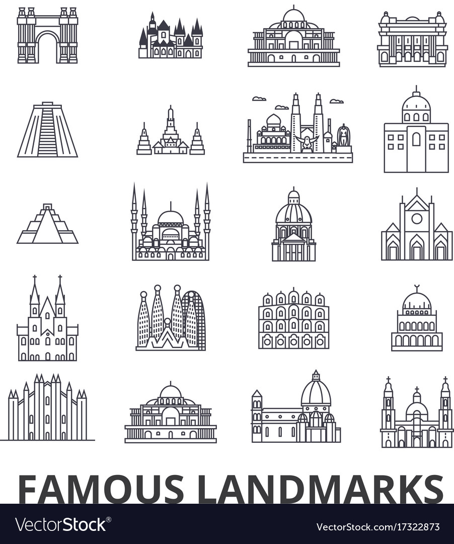 Famous landmark sights world place world travel