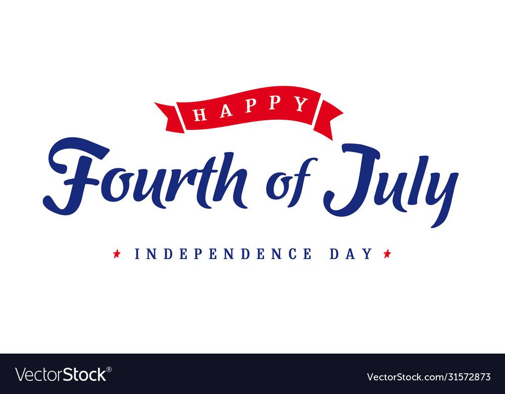 Fourth july independence day vintage banner