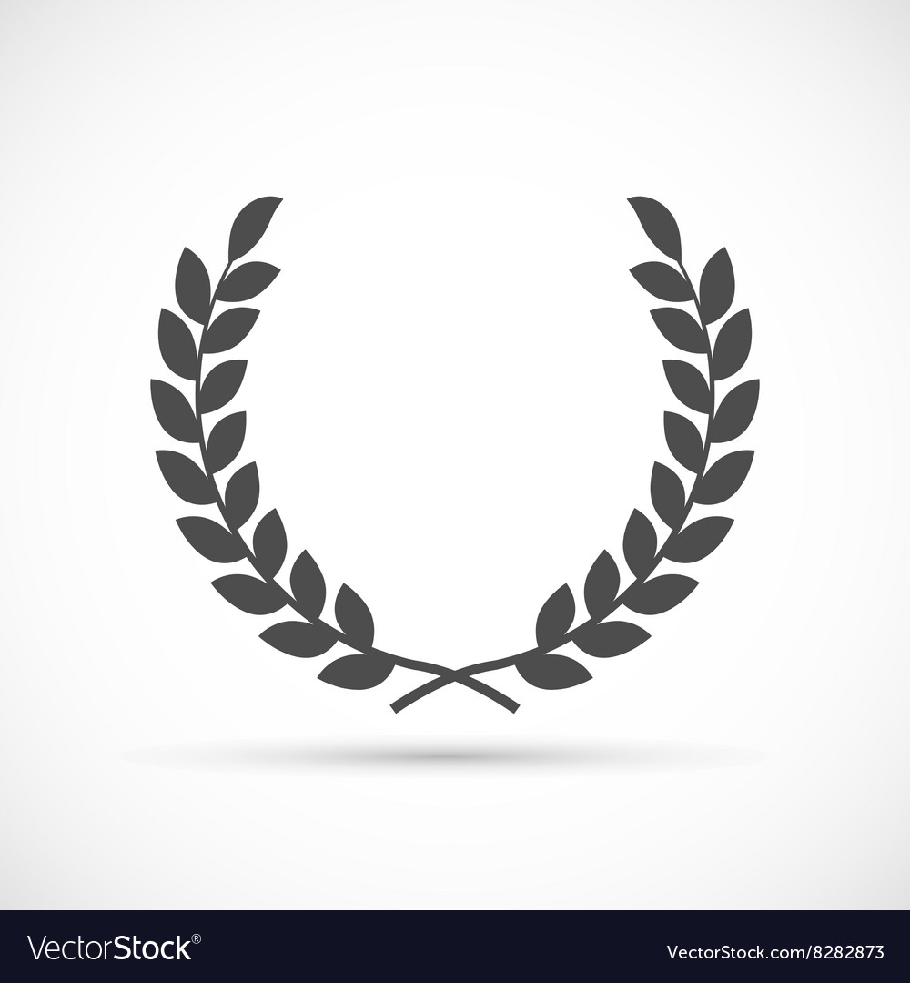 Laurel wreath icon vector image