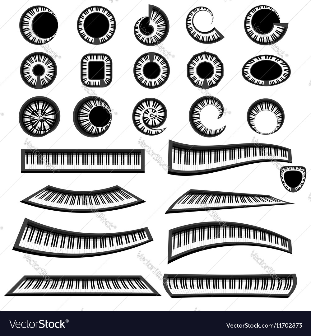 Musical Piano Keyboards Isolated