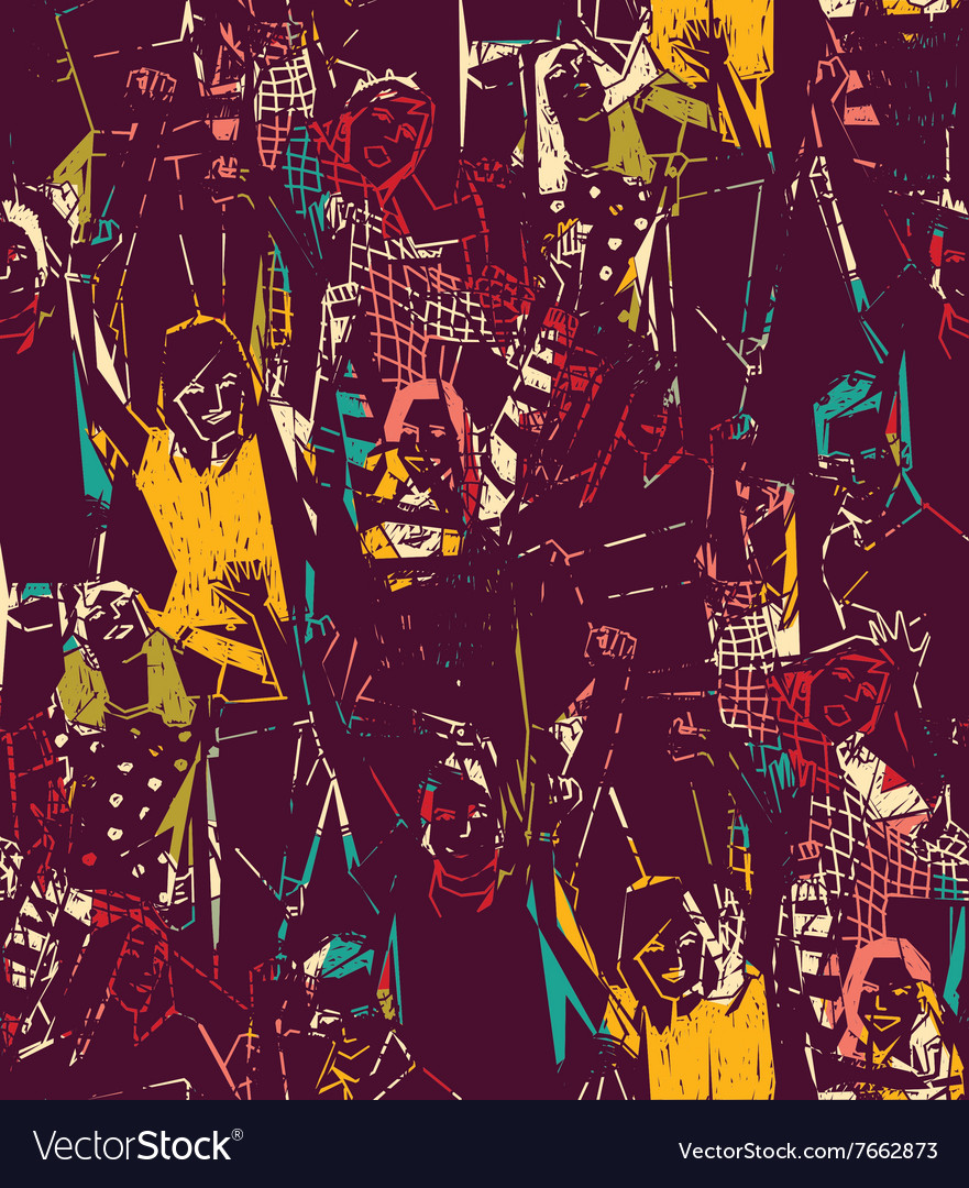 Night party dancing young people abstract seamless