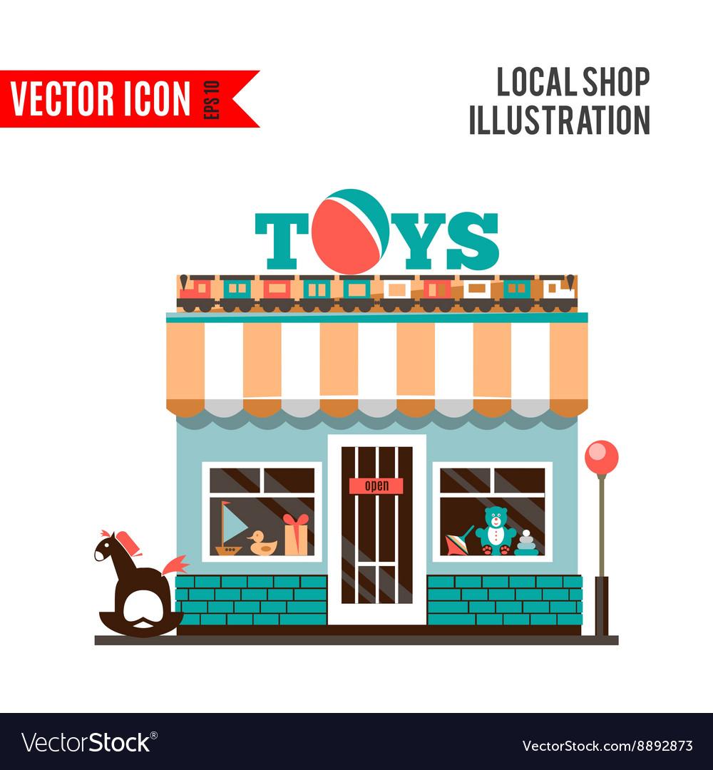 Toy shop icon isolated on white background