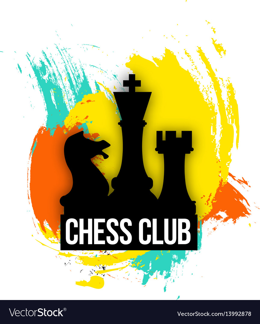 Bright logo for a chess companies club or play