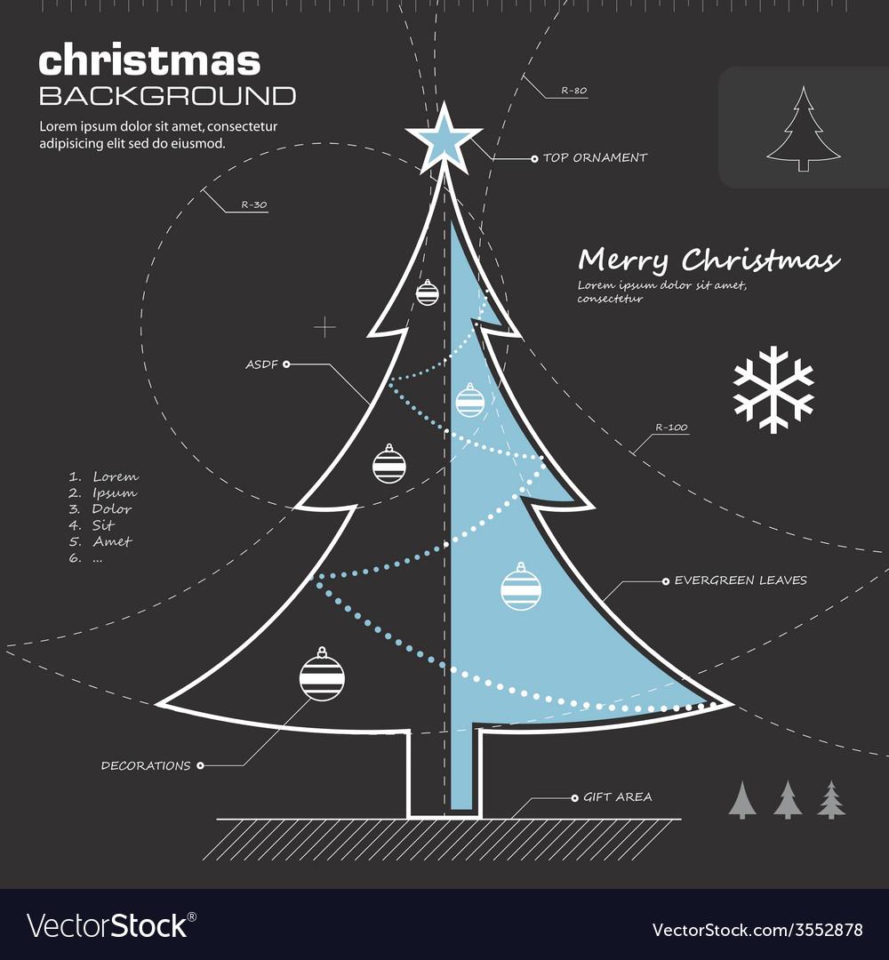 Christmas tree infographic design
