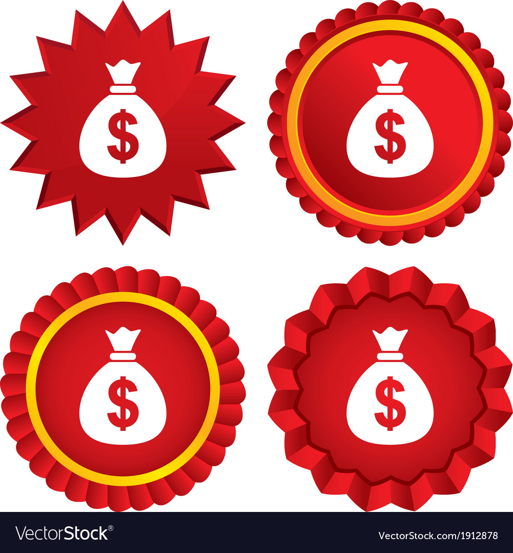 Money bag sign icon Dollar USD currency vector image