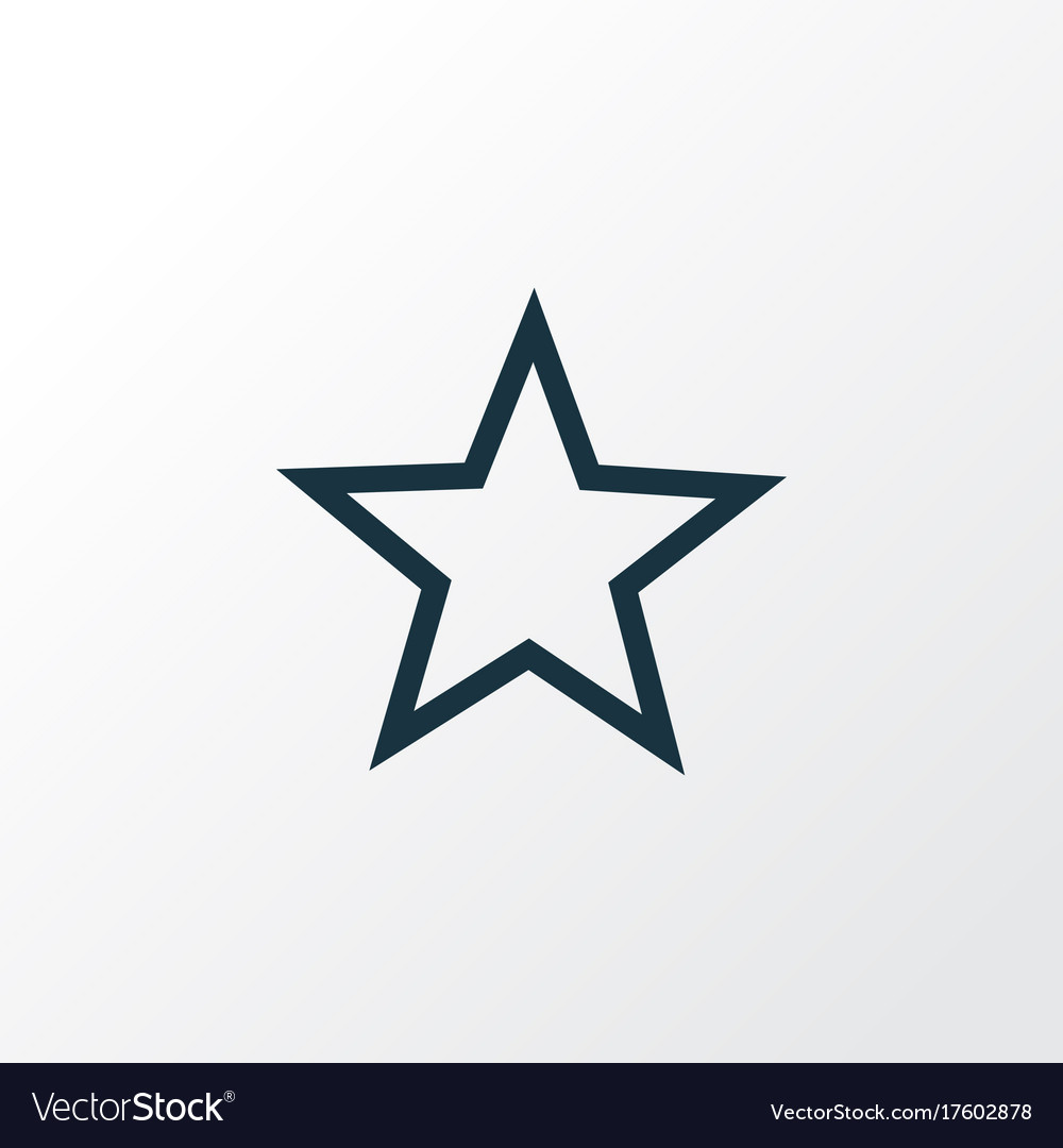 Star Outline Symbol Premium Quality Isolated Vector Image