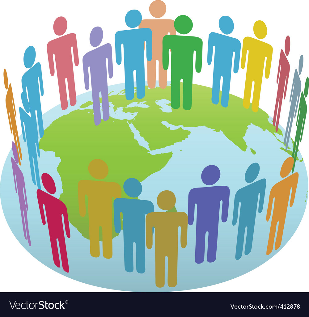 World people vector image