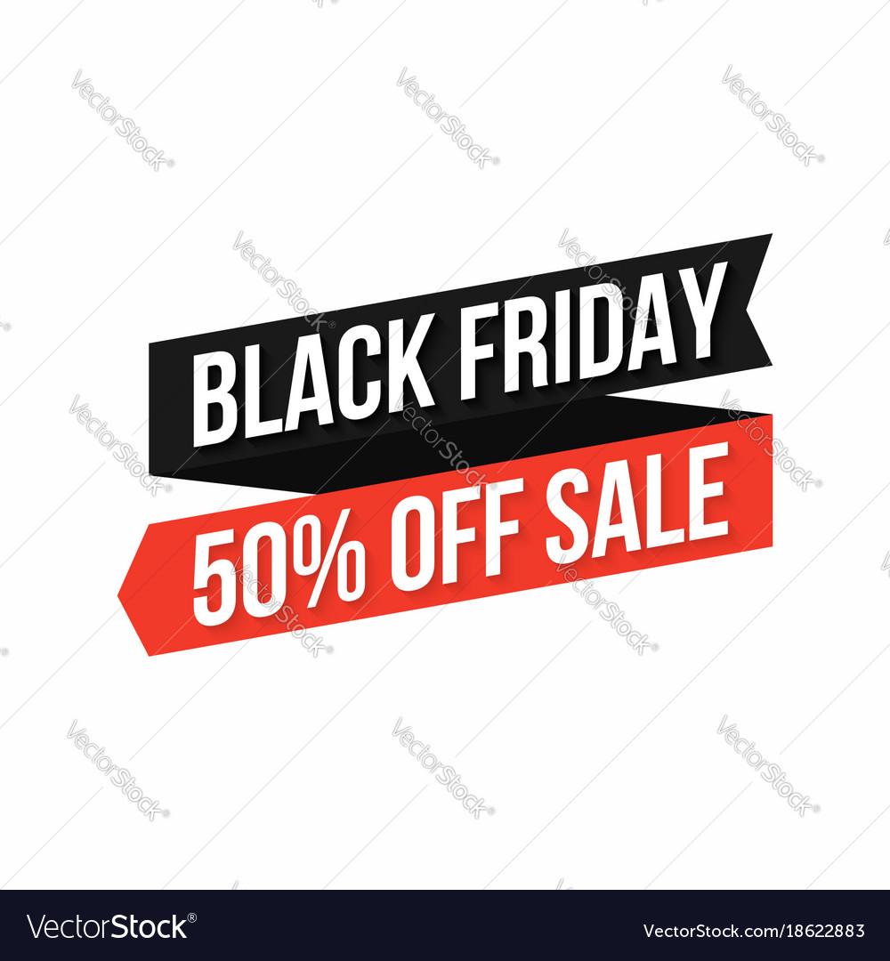 Black friday banner discount sticker black friday