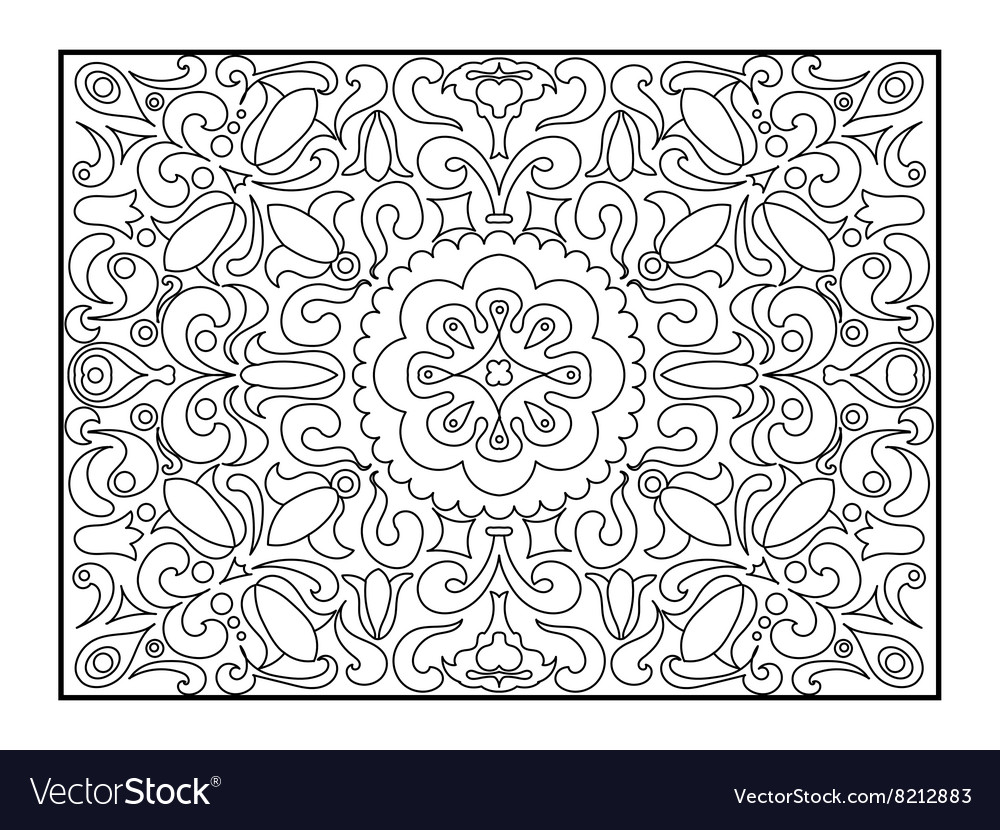 Carpet coloring book for adults