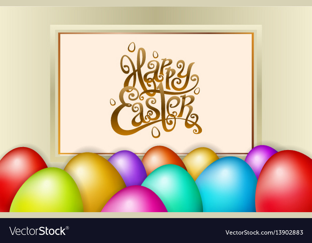 Happy easter lettering modern calligraphy