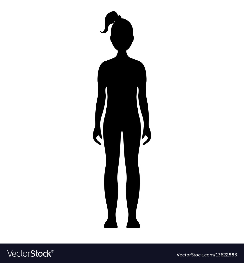 human front side silhouette royalty free vector image rh vectorstock com human silhouette vector sitting human silhouette vector architecture