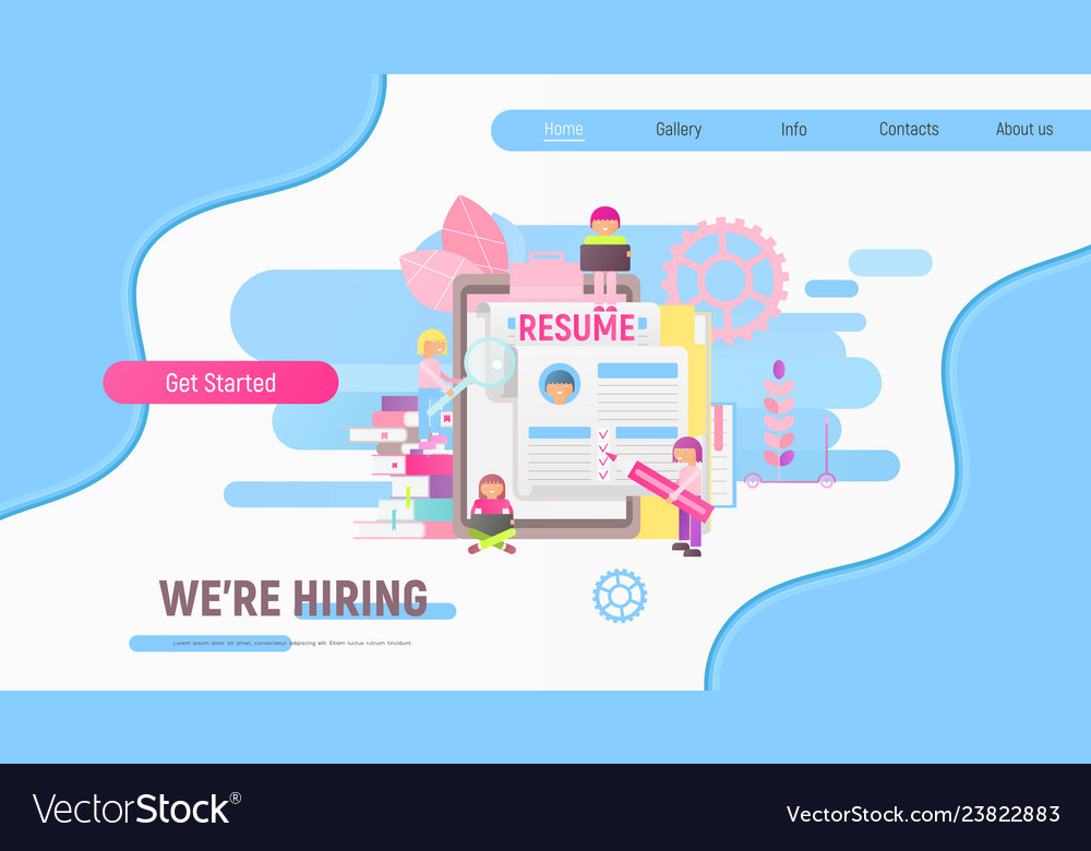 Landing page for recruitment