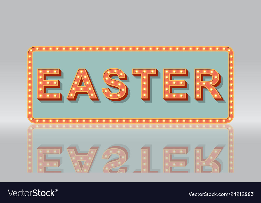 Light sign of easter concept