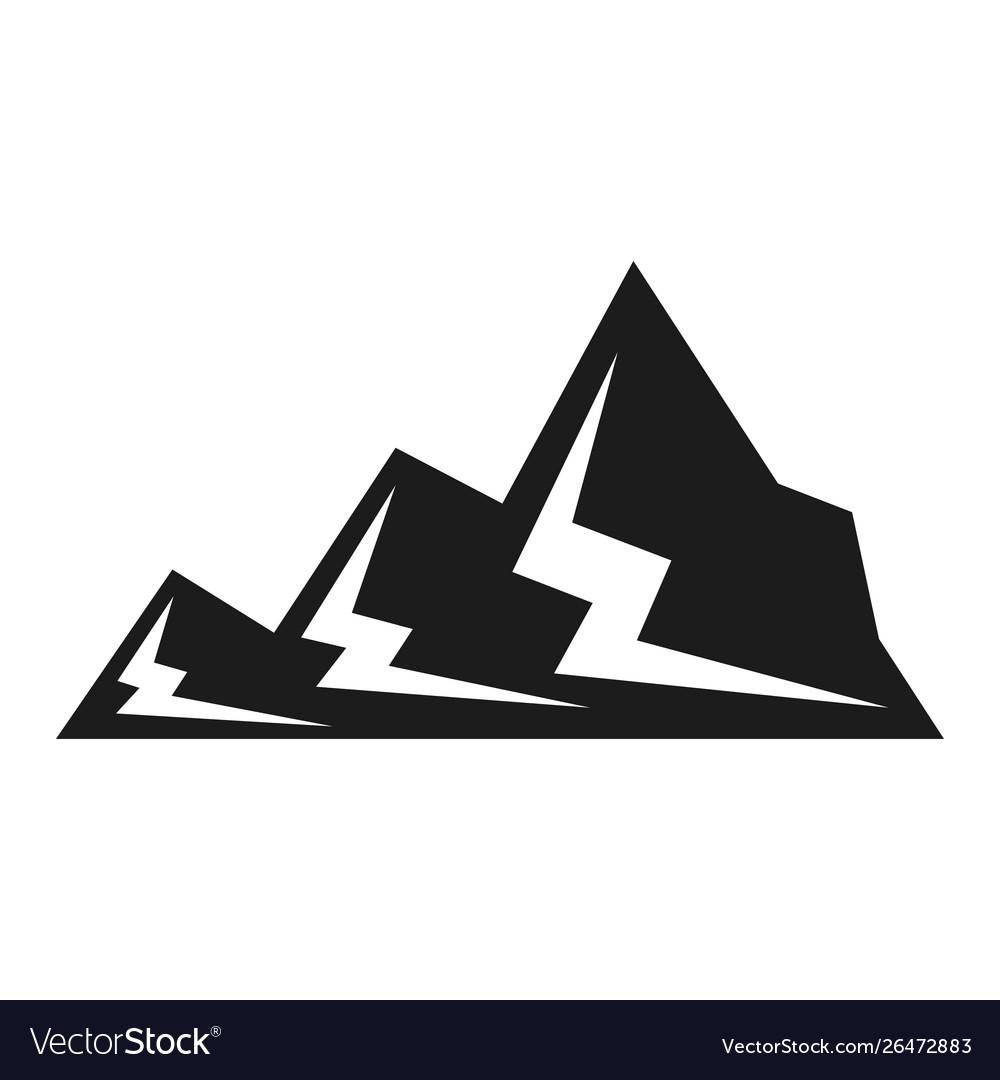 Mountain black icon snow and landscape symbol