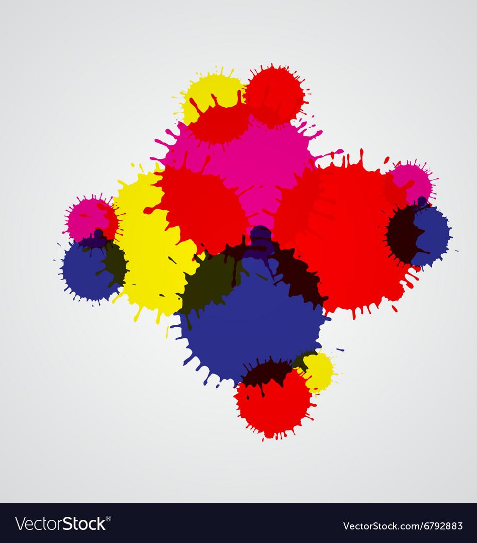 Paint splashes set for design use vector image