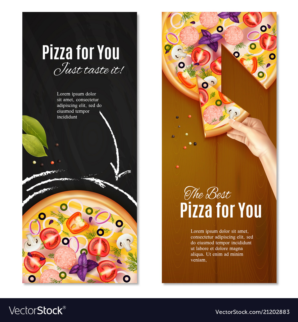 Relialistic pizza vertical banners