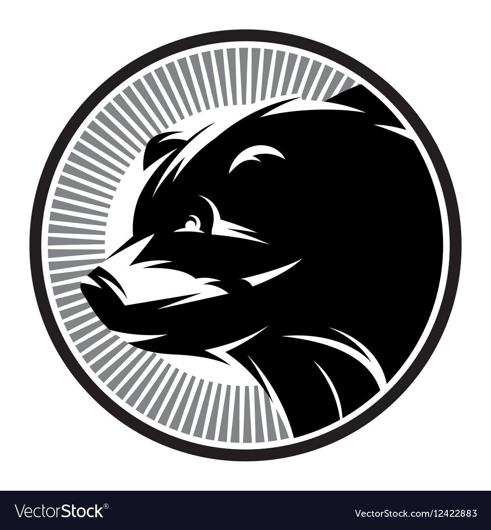 Sport Pattern monochrome logo with bear