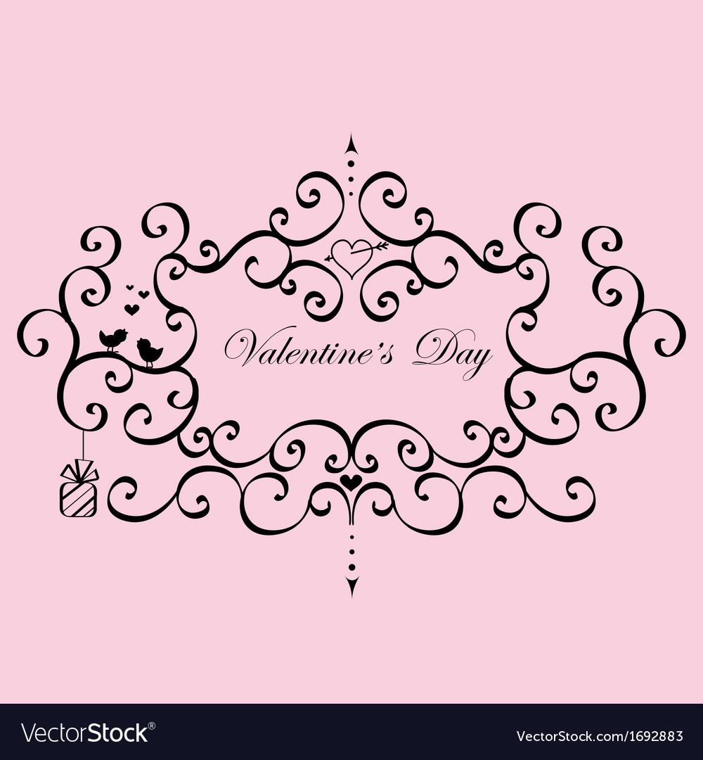 Vintage Frame Valentines Day