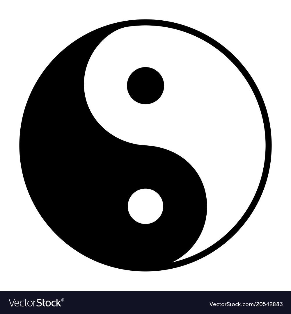Ying Yang Symbol Of Harmony And Balance Royalty Free Vector