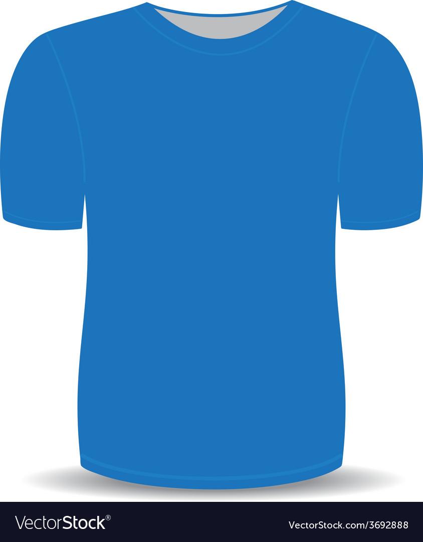 Blank t shirt blue template