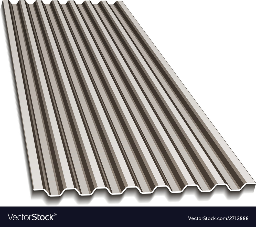 Corrugated roofing sheet Royalty Free Vector Image