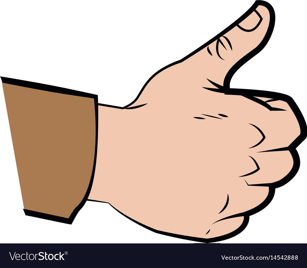 Hand make thumb up comic